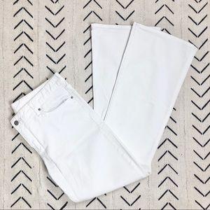 GAP white denim 'Perfect Boot' jeans